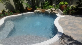 Freeform Pool with Landscaping